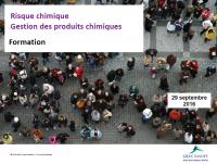 capture d'écran du diaporama sur les produits chimiques