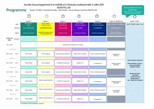 Programme de la JAm Montpellier