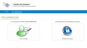 Page d'accueil de Net-Candidature