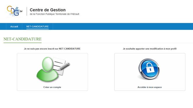 Espace candidat net candidature site officiel du cdg - Disponibilite d office pour raison de sante ...